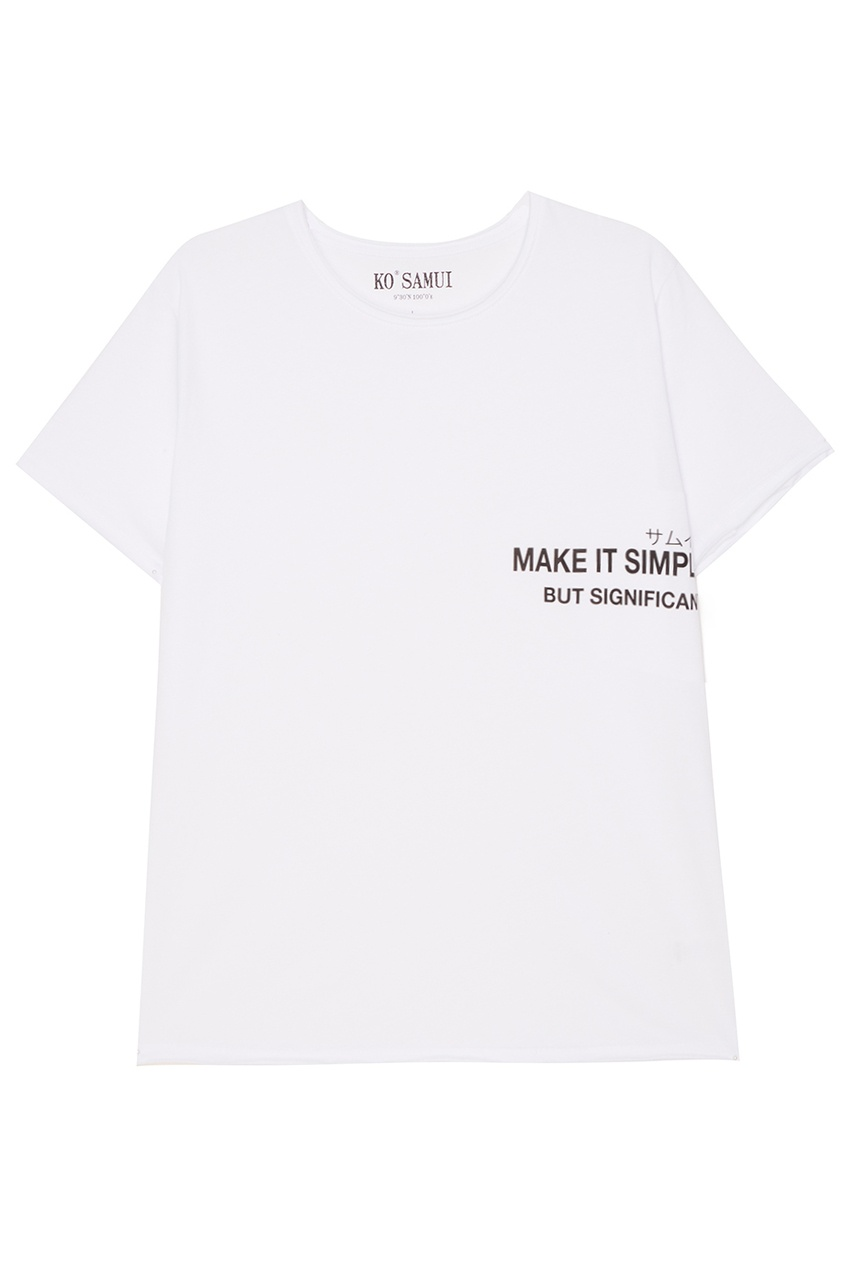 где купить KO SAMUI Белая футболка с надписью Make по лучшей цене