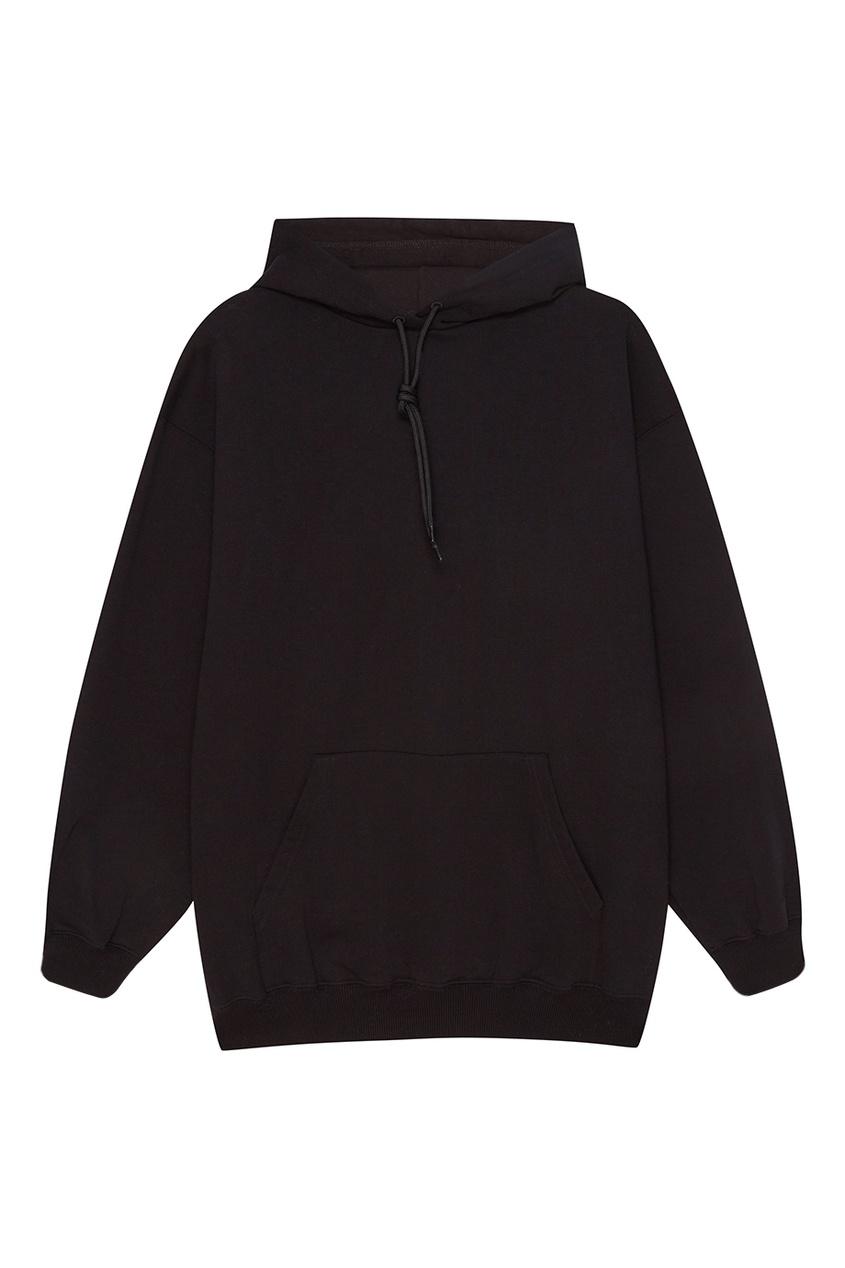 Balenciaga Черное худи из хлопкового микса