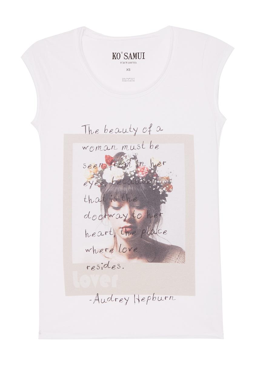 KO SAMUI Белая футболка с фотопринтом Beauty ko samui белая футболка с фотопринтом shore