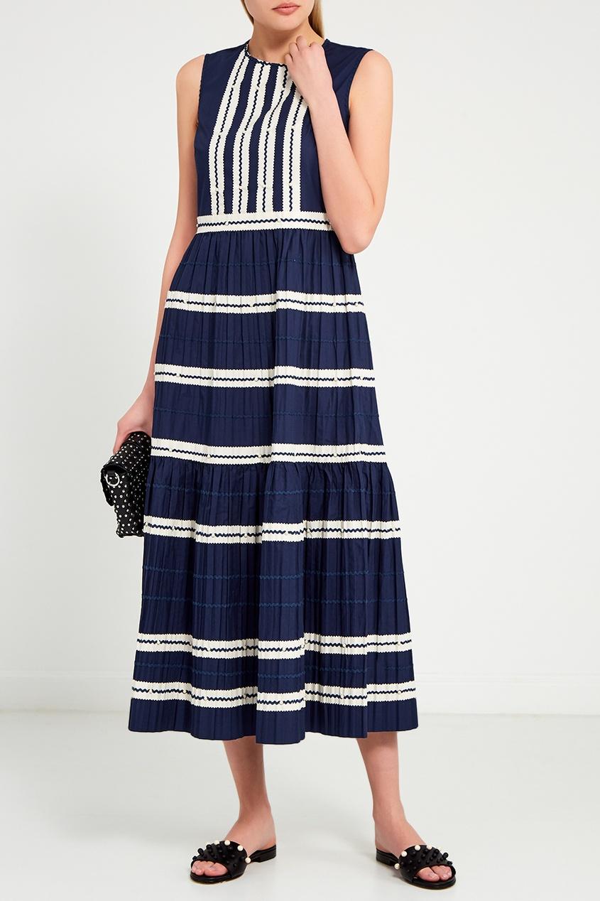 женское платье red valentino, синее