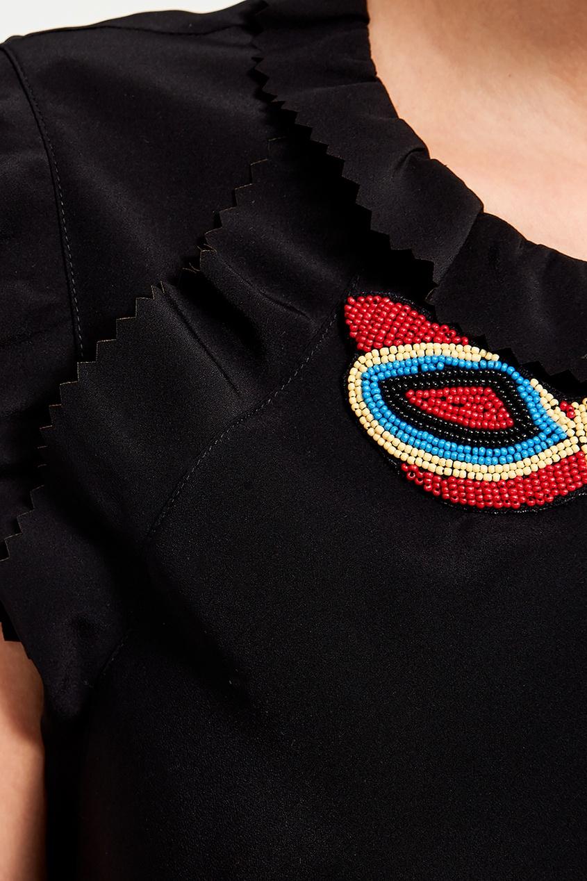 женское платье red valentino, черное