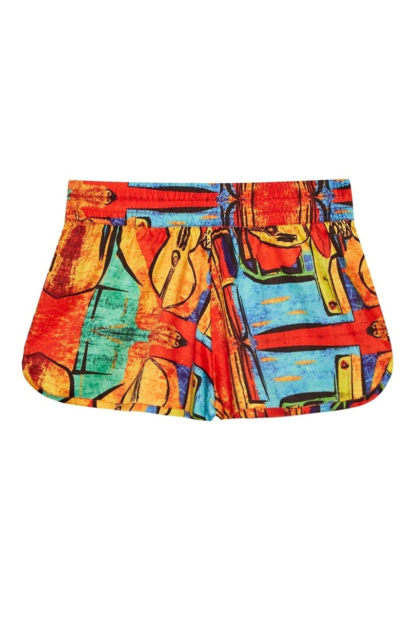 KO SAMUI Хлопковые шорты-мини с принтом Cubism the picasso s cubism