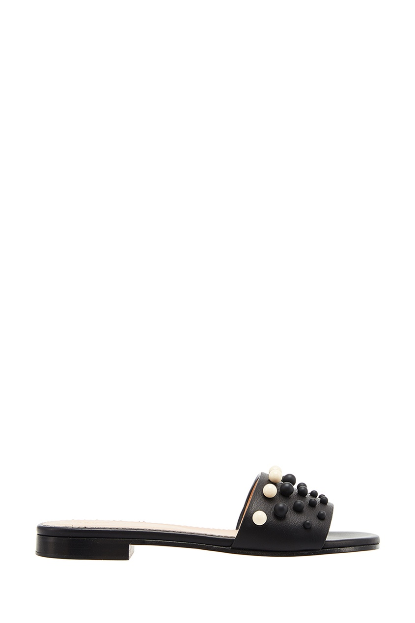 все цены на Red Valentino Кожаные сандалии с бусинами