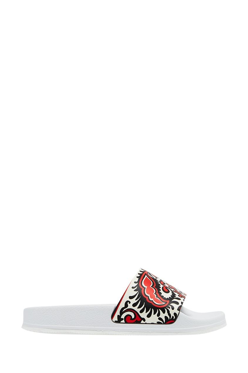 Белые сандалии с принтом