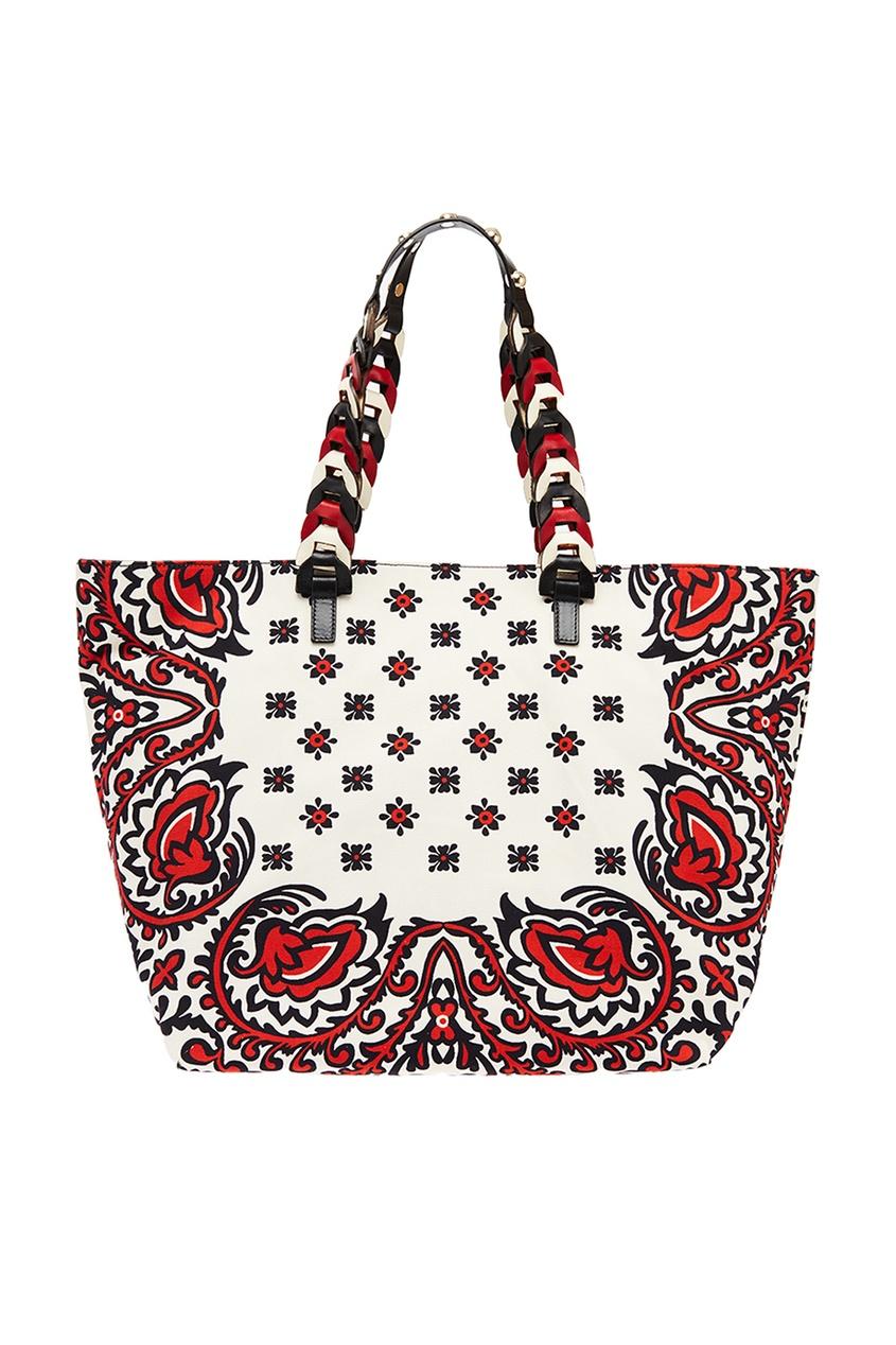 Red Valentino Хлопковая сумка с принтом