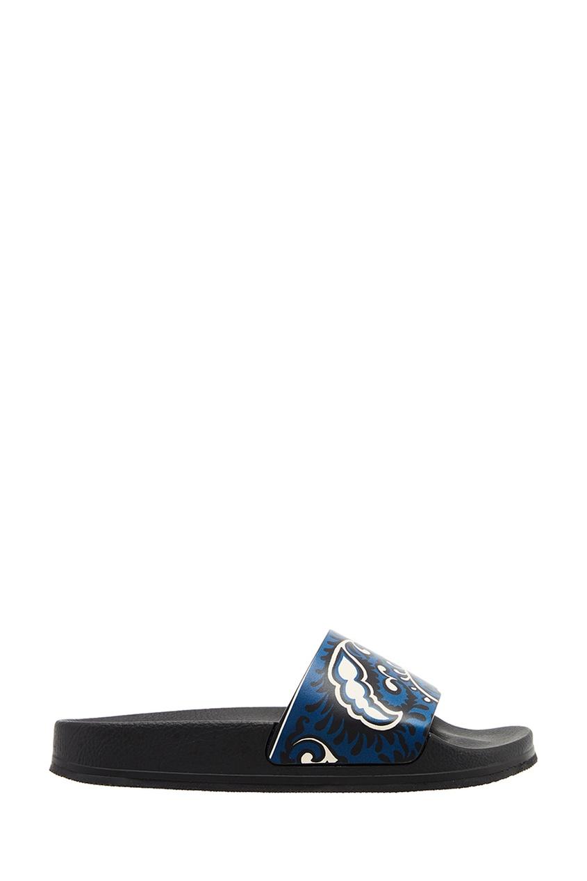 Черные сандалии с принтом