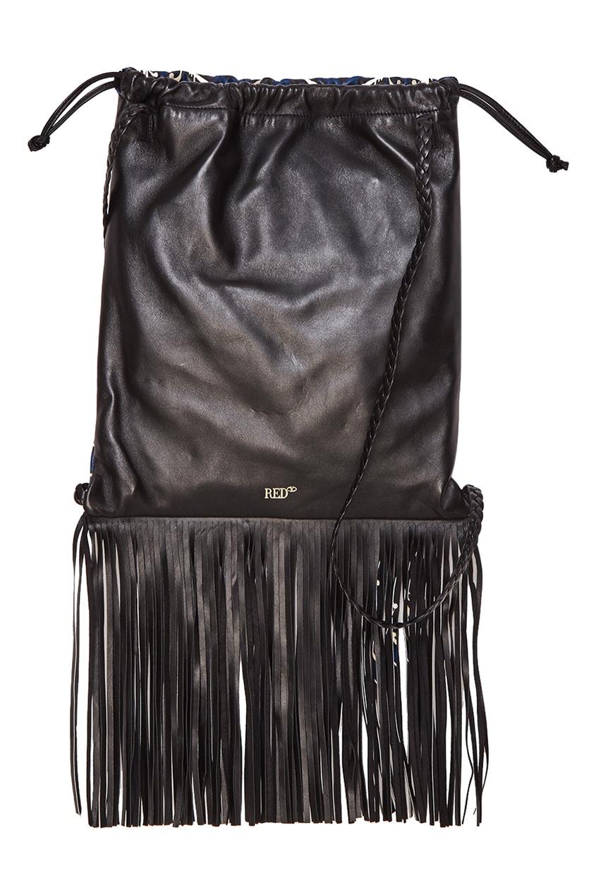 женский рюкзак red valentino, черный
