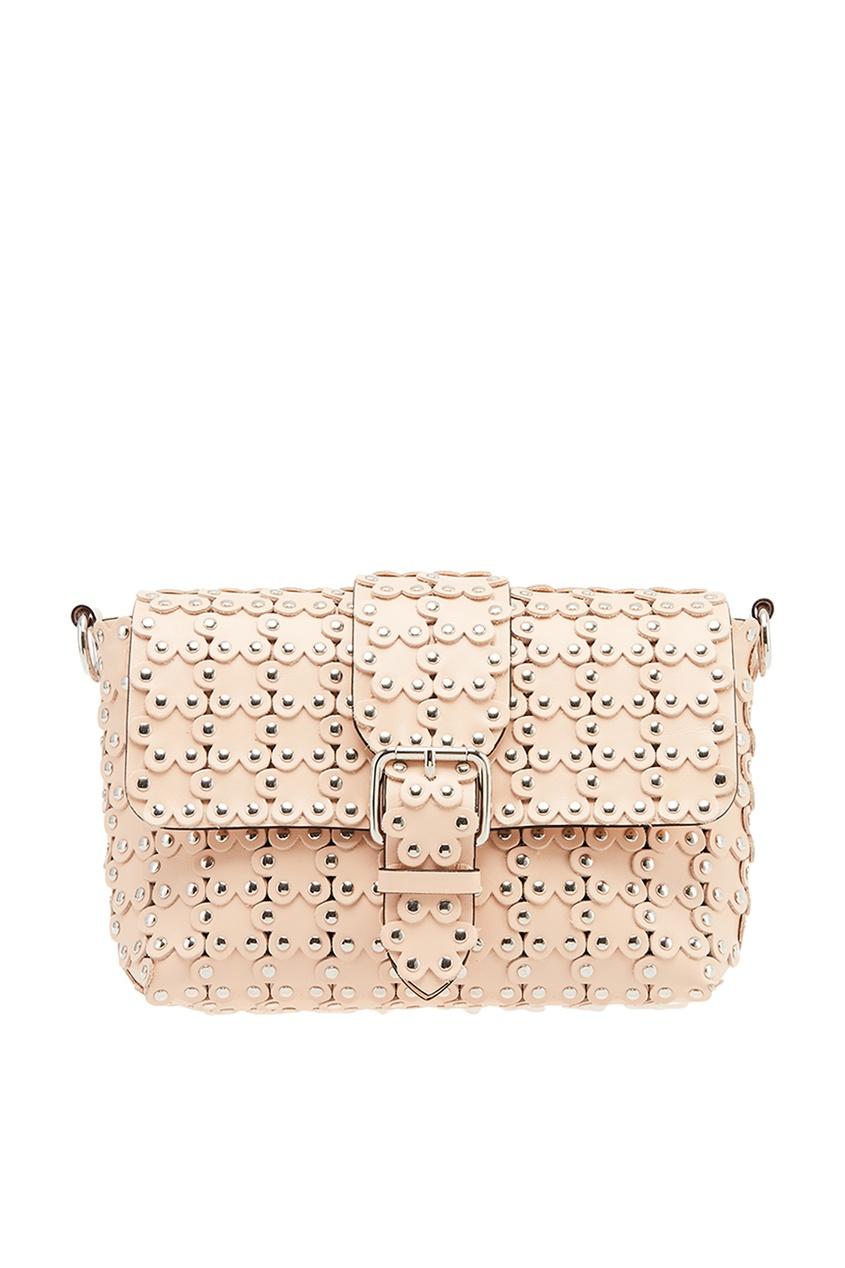 Red Valentino Розовая сумка с объемными цветами