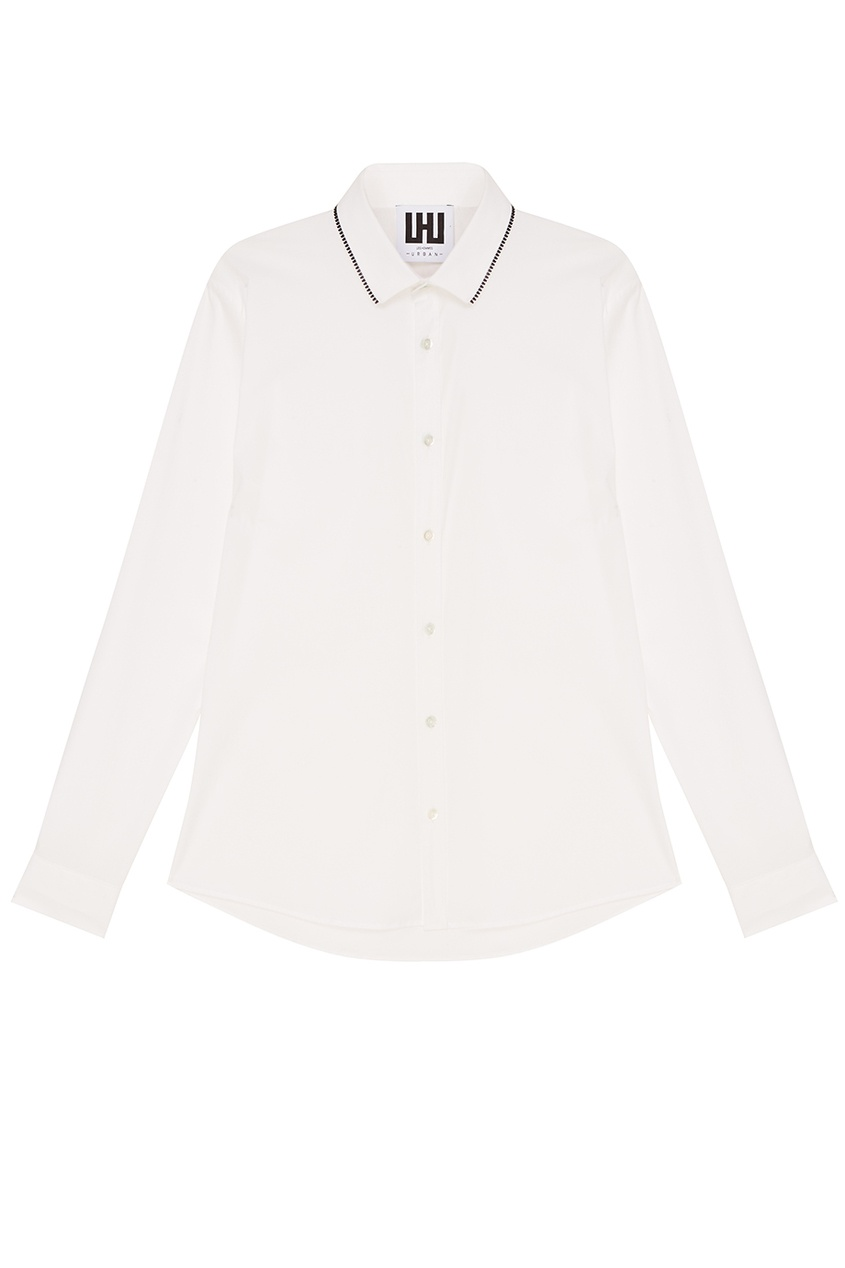 LES HOMMES URBAN Белая рубашка из хлопка рубашка armani exchange 3zzc45 zneaz 0581