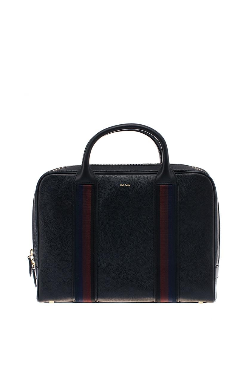Черный портфель из кожи