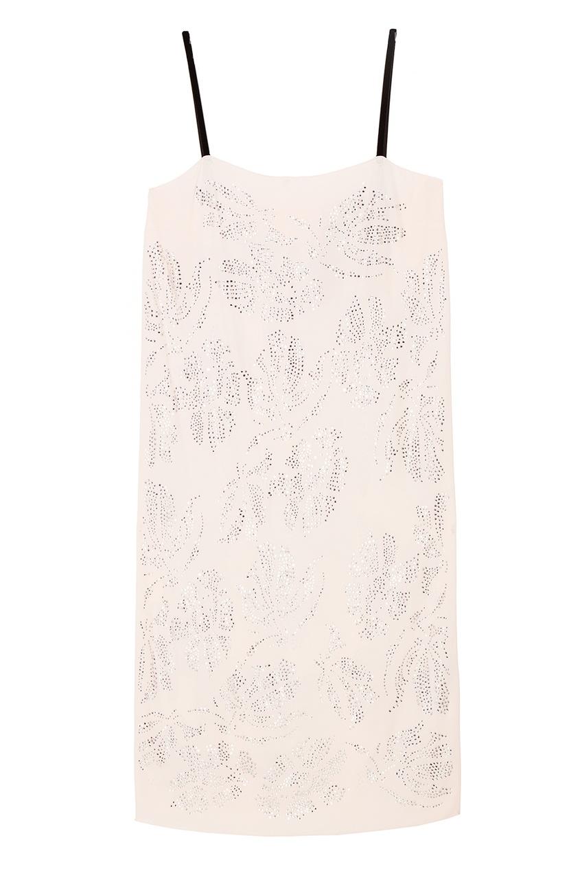 No.21 Платье-комбинация с кристаллами