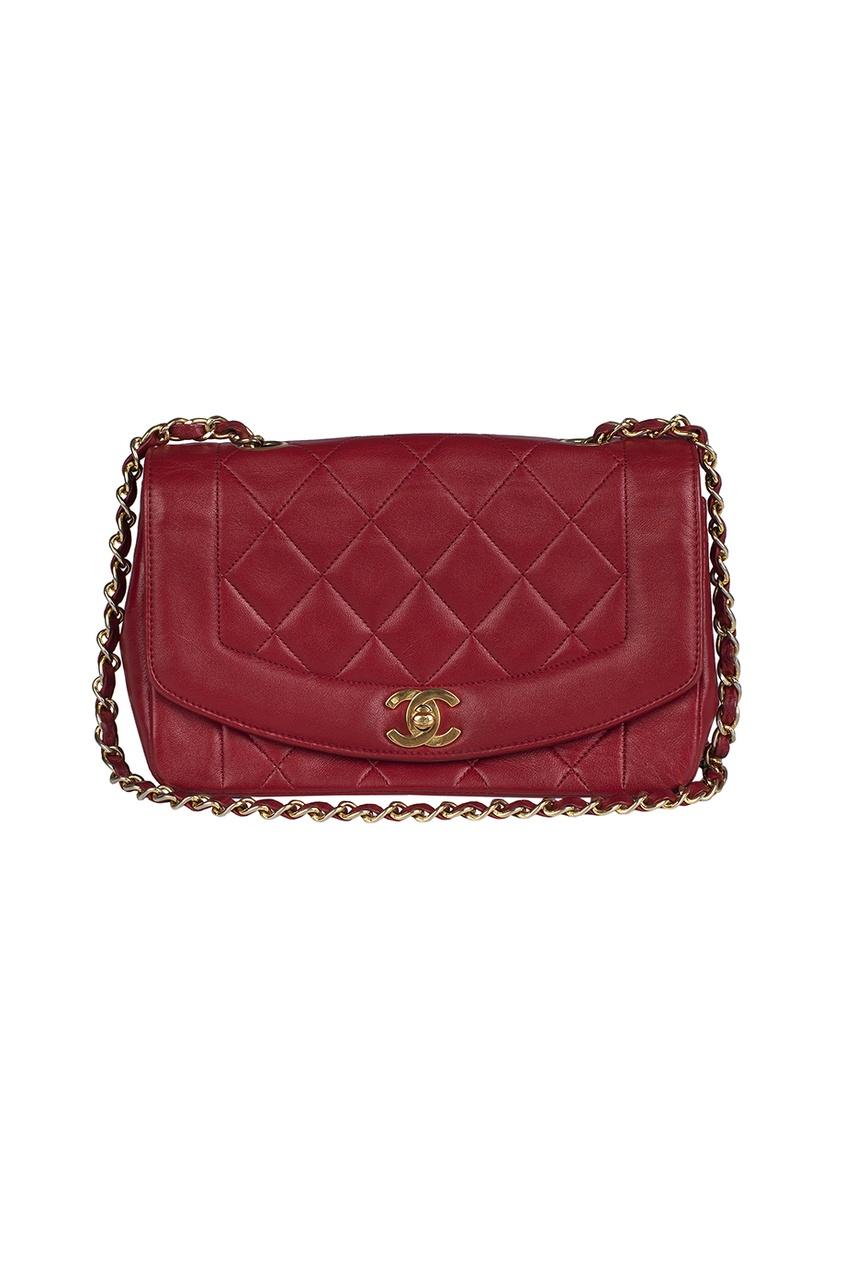 Chanel Vintage Кожаная сумка (80-е гг.)