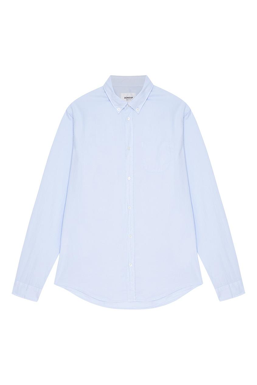 Dondup Голубая рубашка из хлопка голубая рубашка