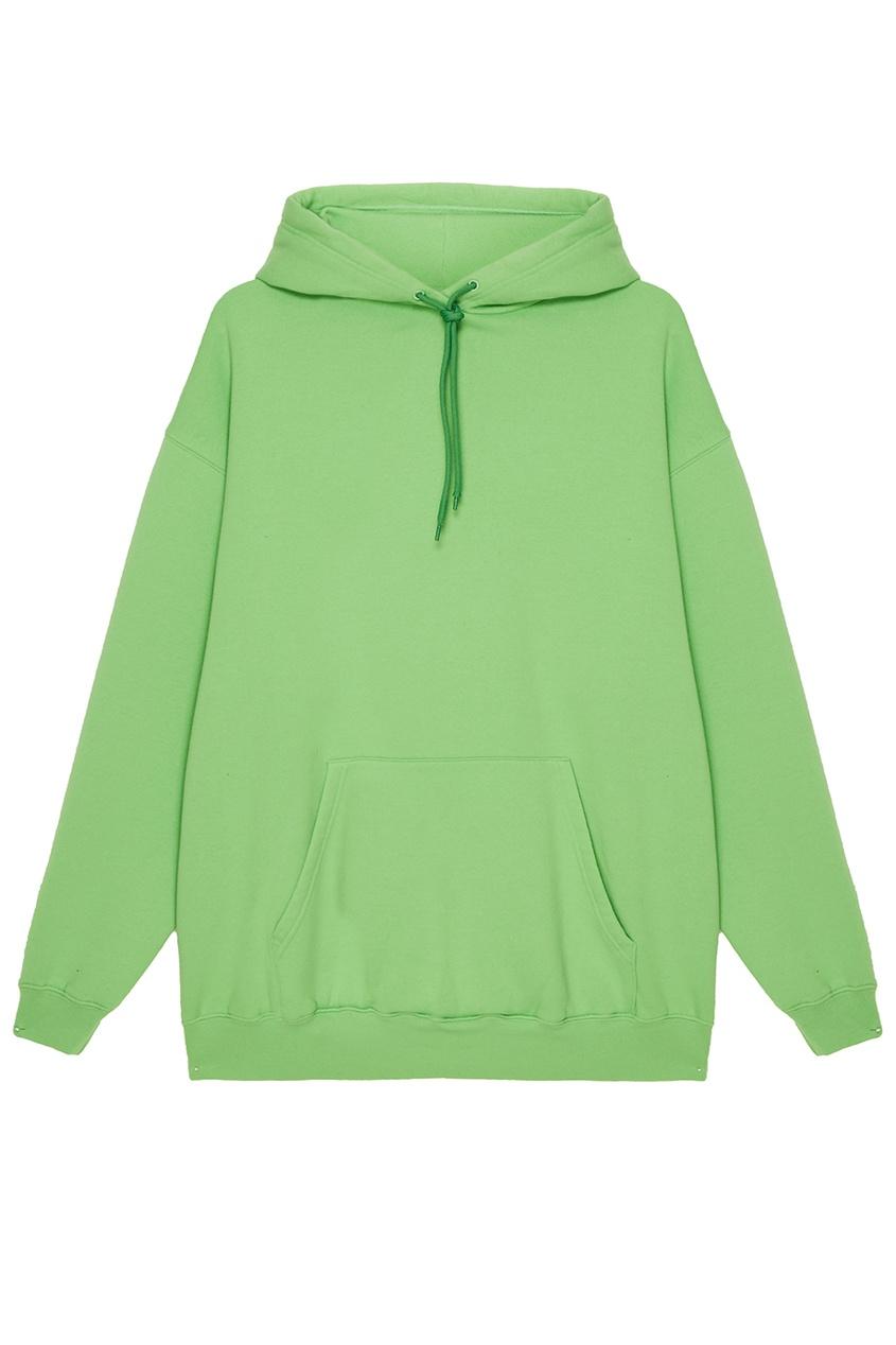 Balenciaga Зеленое худи из хлопкового микса худи m 1 худи