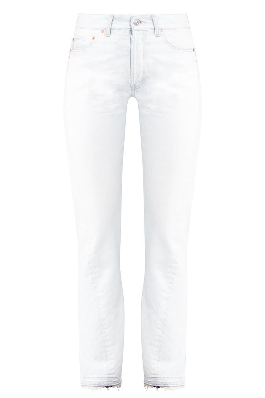 Balenciaga Прямые белые джинсы