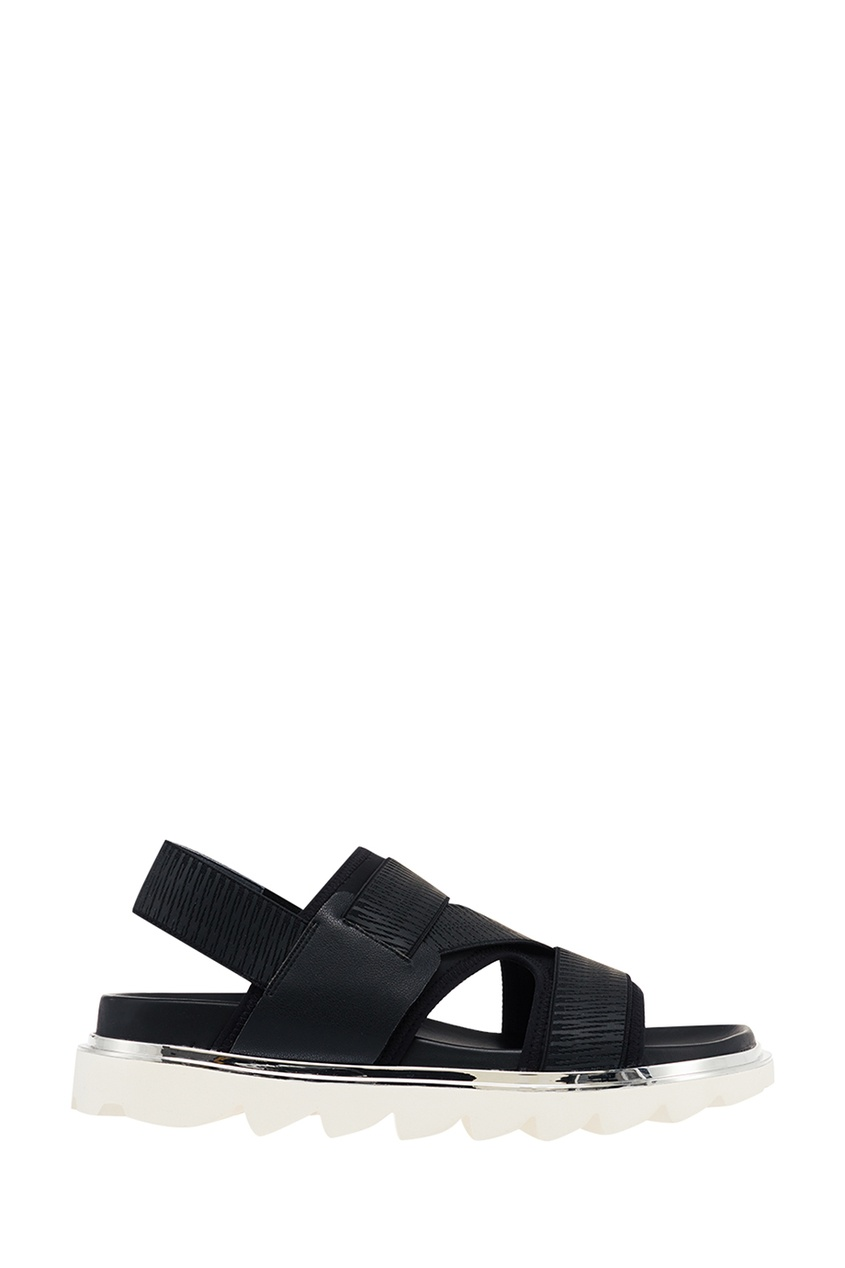 United Nude Черные сандалии Aqua Sandal Mens