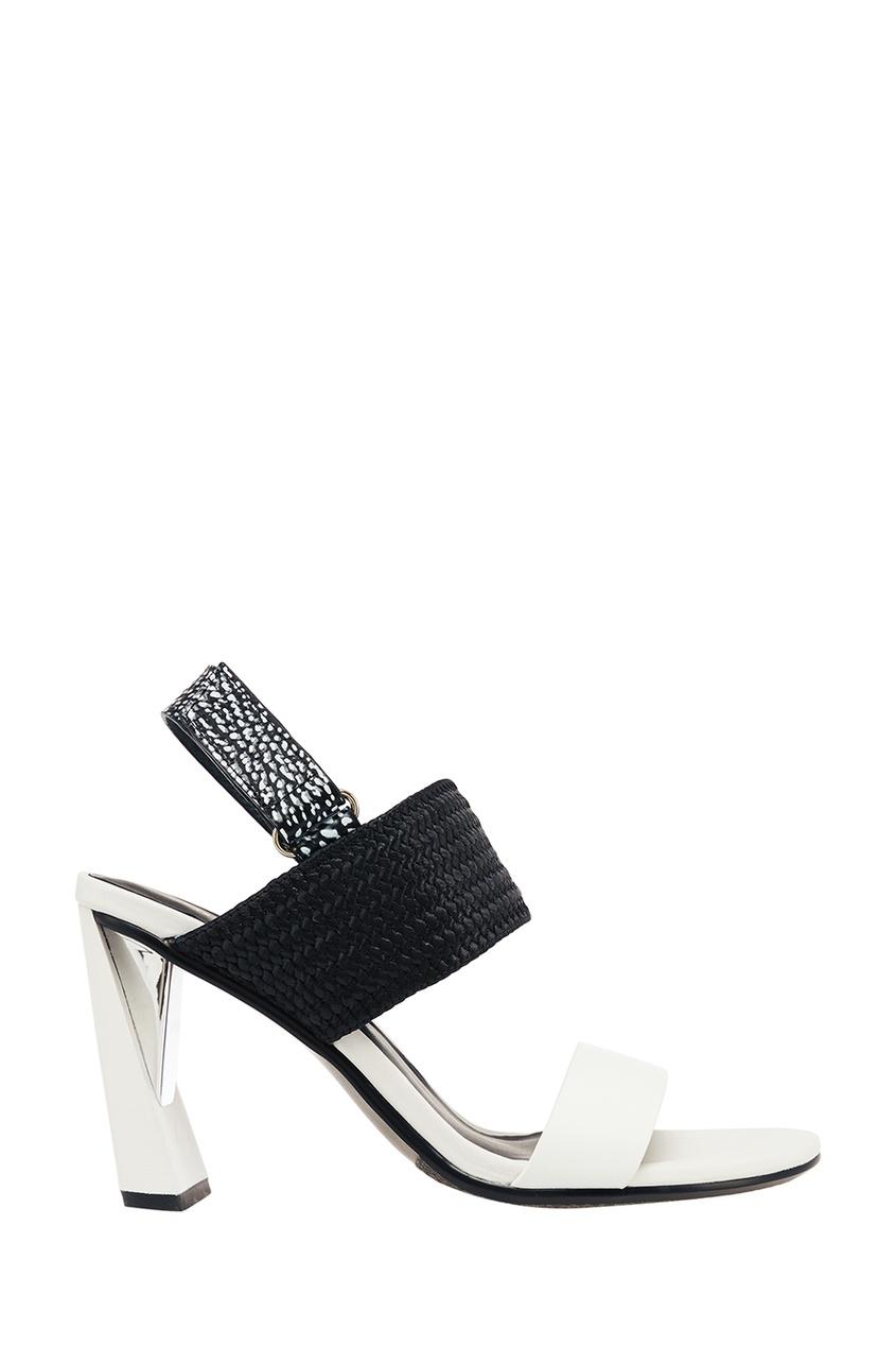 Черно-белые босоножки Zink Slingback Hi