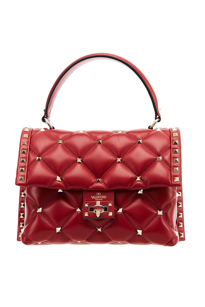 Valentino Красная стеганая сумка Candy Stud сумка giovanni valentino mtp00131699 valentino c rockee