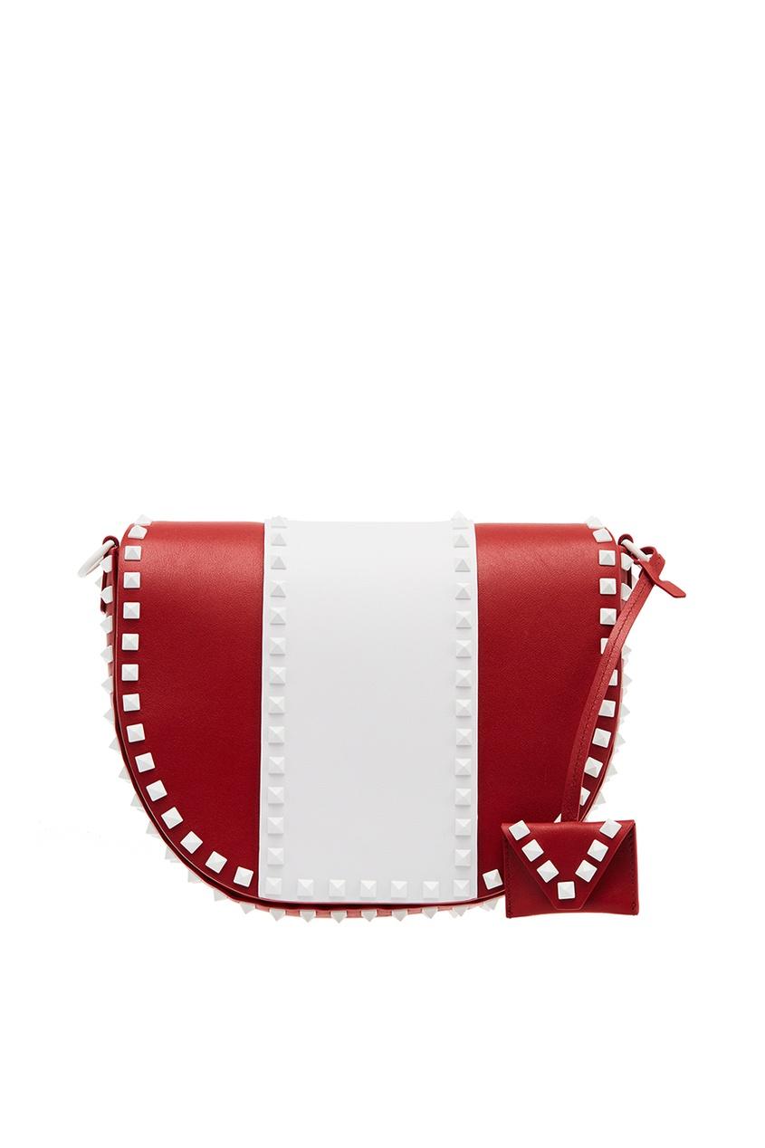 Комбинированная сумка из кожи Free Rockstud Valentino Garavani фото