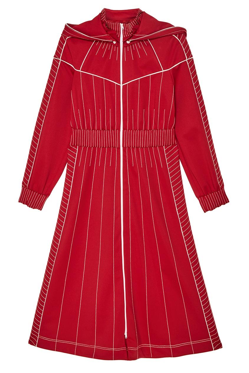 женское платье valentino, красное