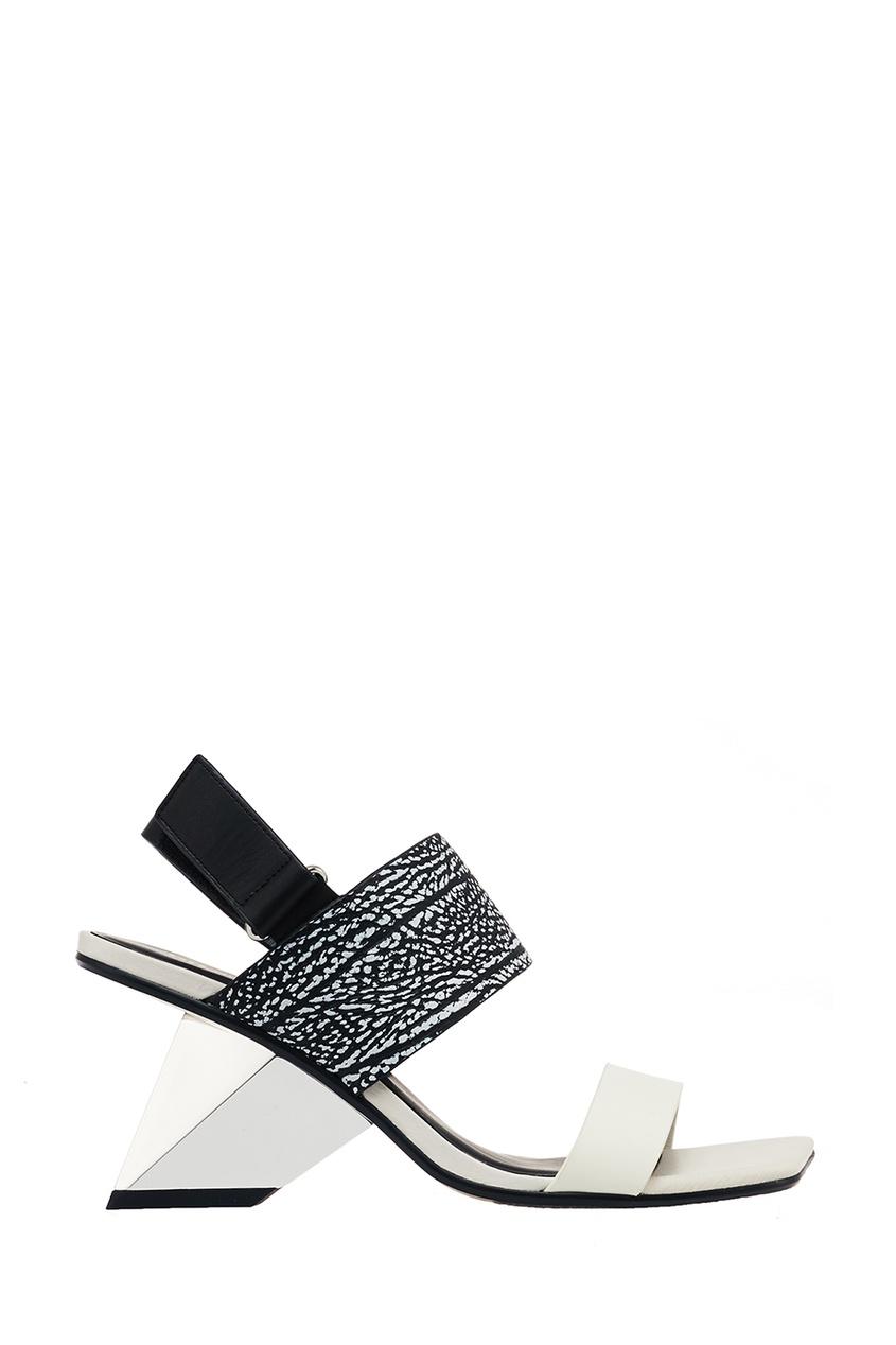 United Nude Босоножки из черно-белой кожи Rockit Sandal
