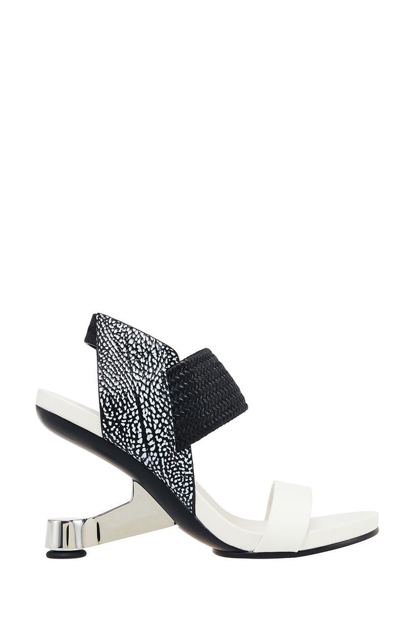 Босоножки с фигурным каблуком Eamz Raiko