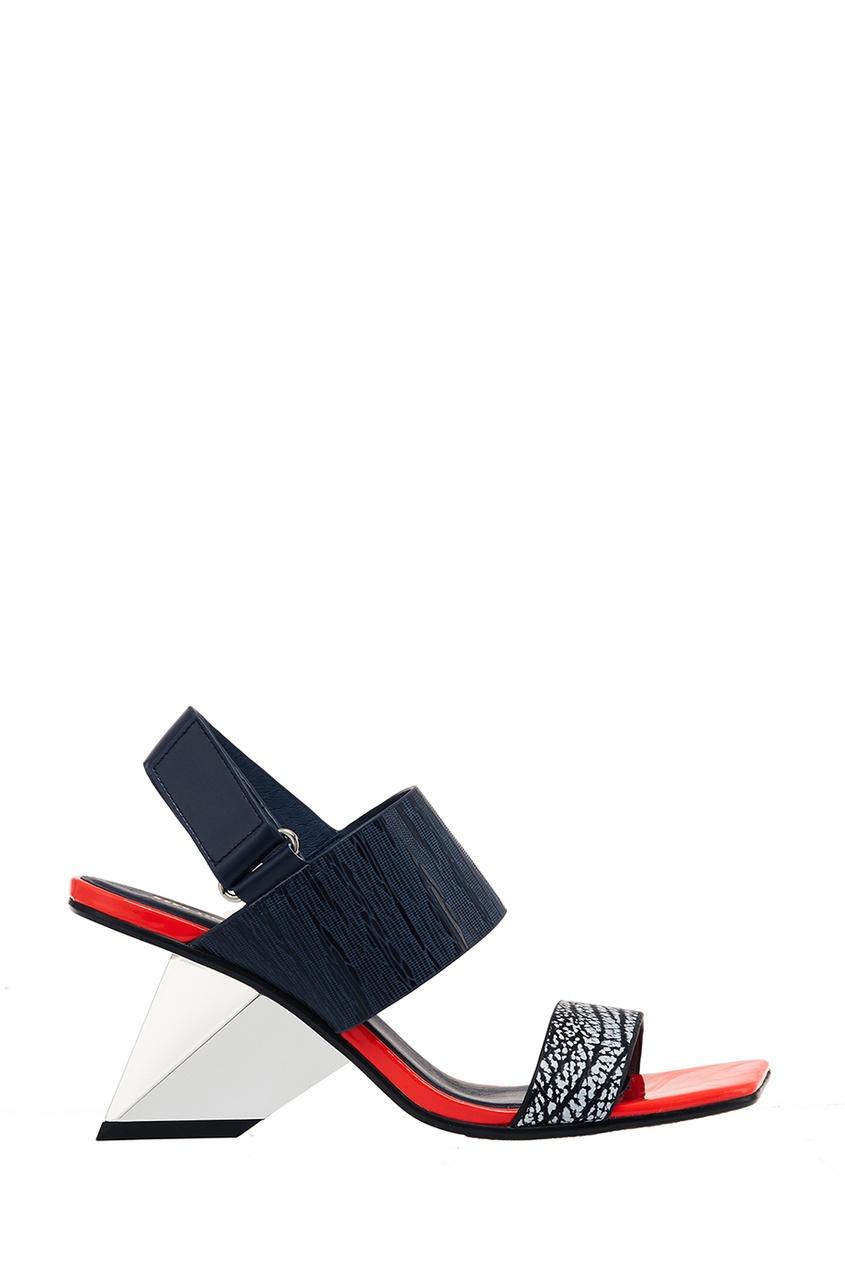 United Nude Босоножки из красно-черной кожи Rockit Sandal