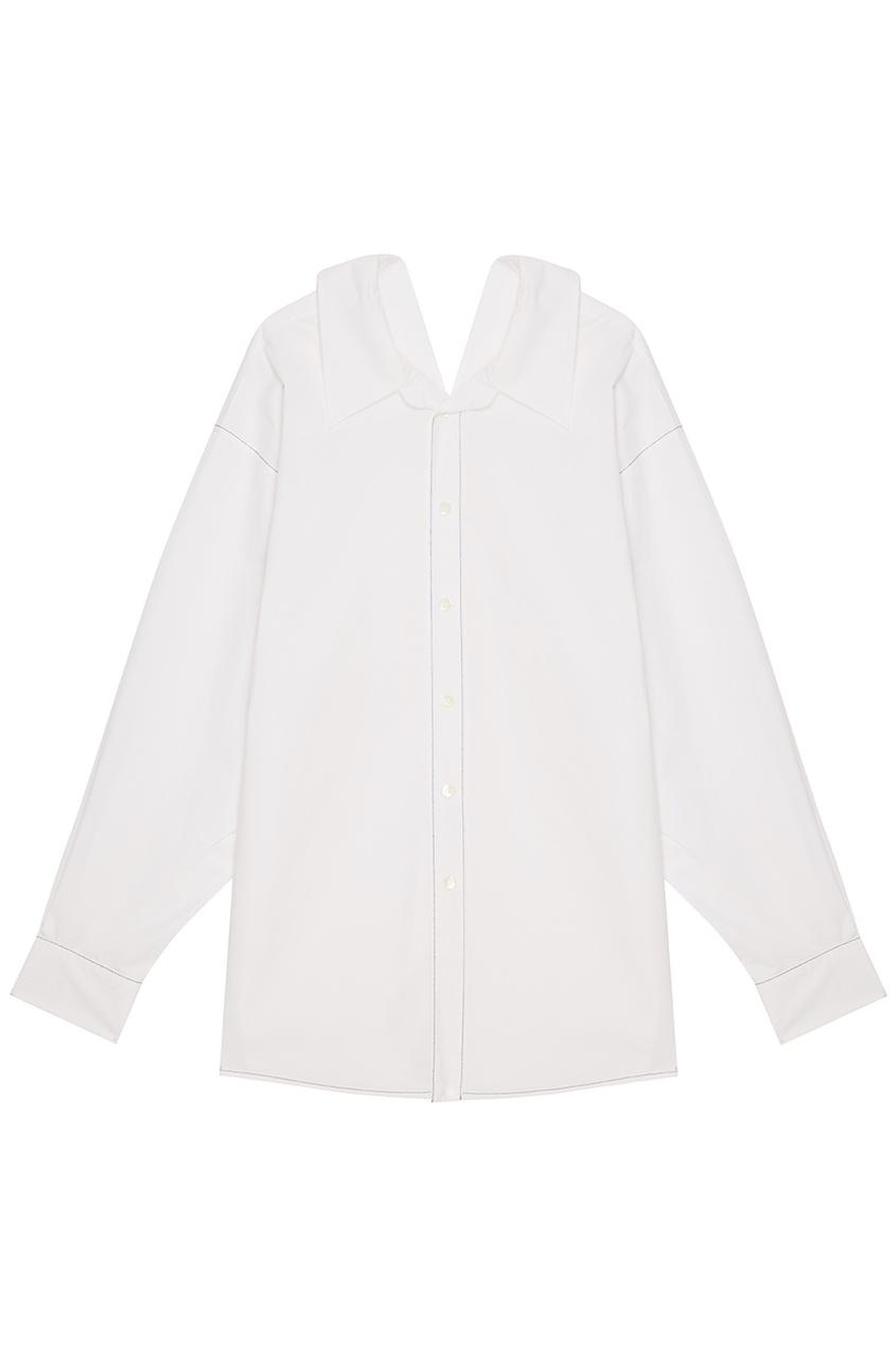 Marni Белая хлопковая рубашка рубашка белая ido ут 00015956