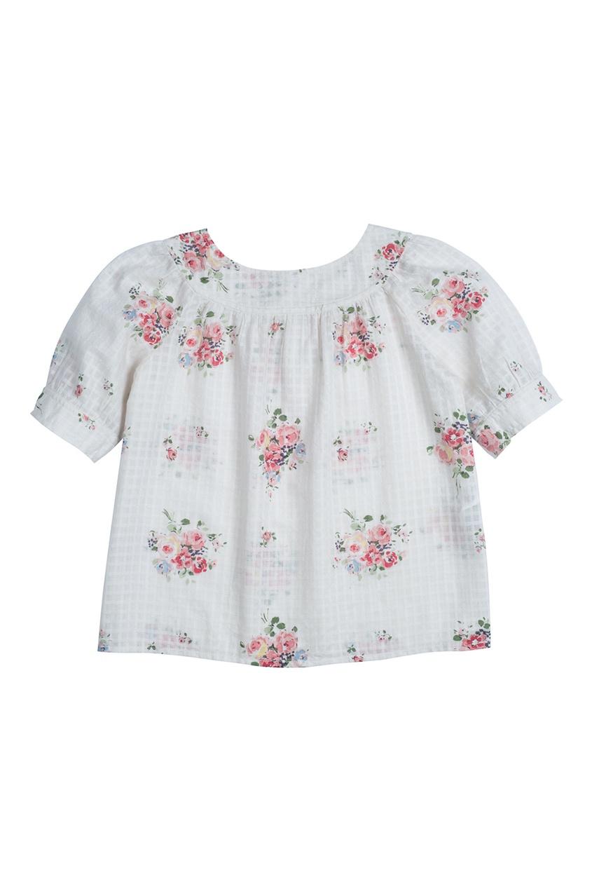 Bonpoint Легкая хлопковая блуза GARETH etro хлопковая блуза с ярким принтом