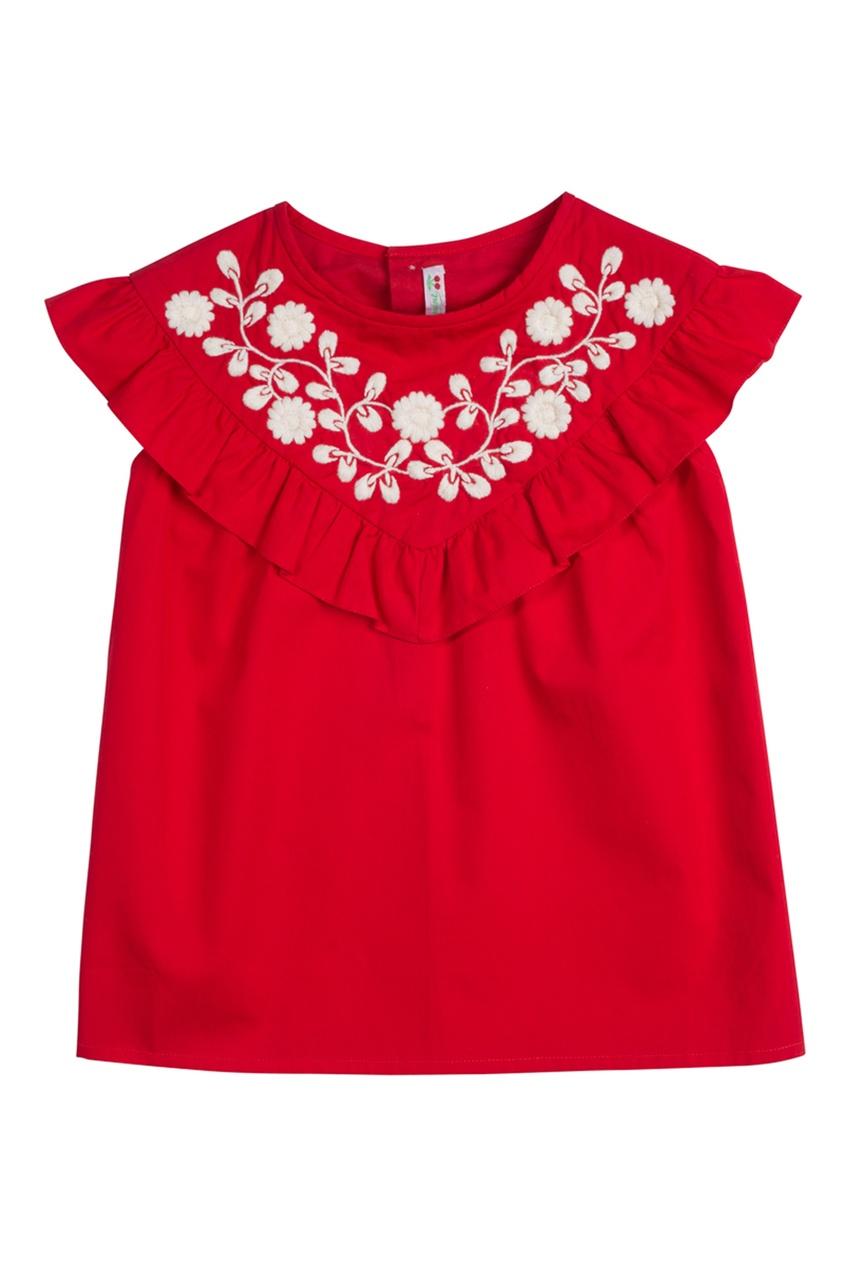 Bonpoint Блузка красная GAZELLE bonpoint блуза с принтом gazelle