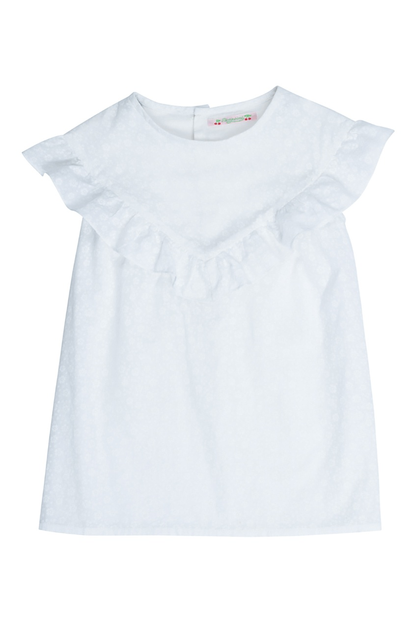 Bonpoint Блузка белая GAZELLE bonpoint блуза с принтом gazelle