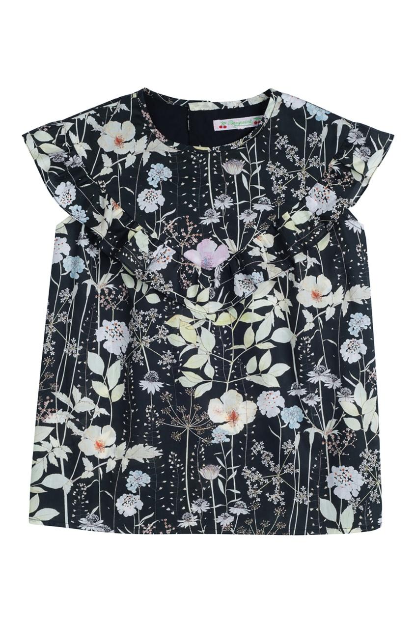 Bonpoint Блуза с принтом GAZELLE bonpoint кожаный портфель с контрастными деталями