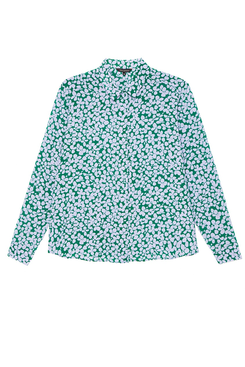 Шелковая блузка с принтом
