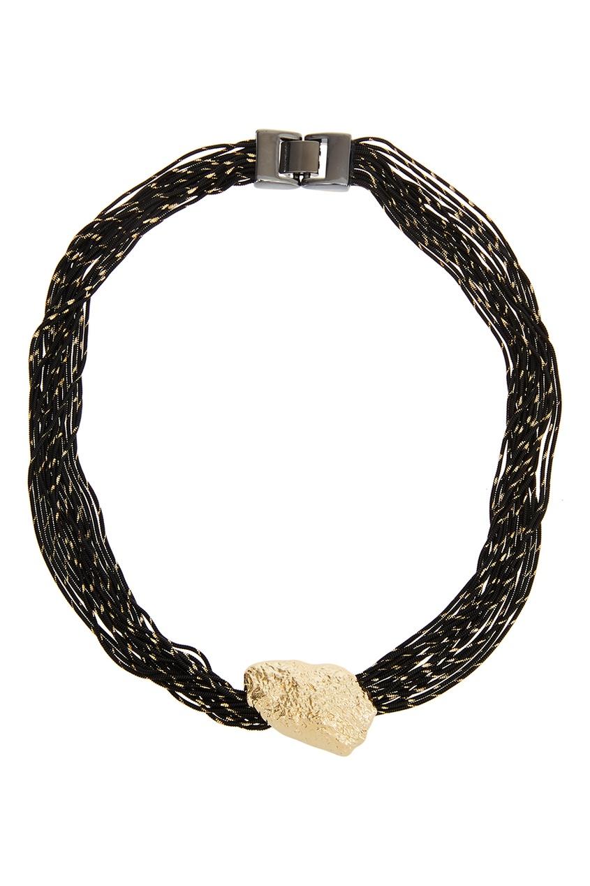 Adolfo Dominguez Колье из черных шнуров
