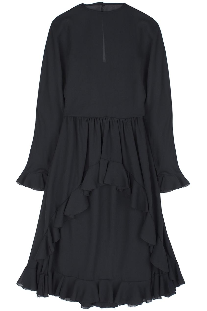 Платье из черной органзы (80-е гг.)