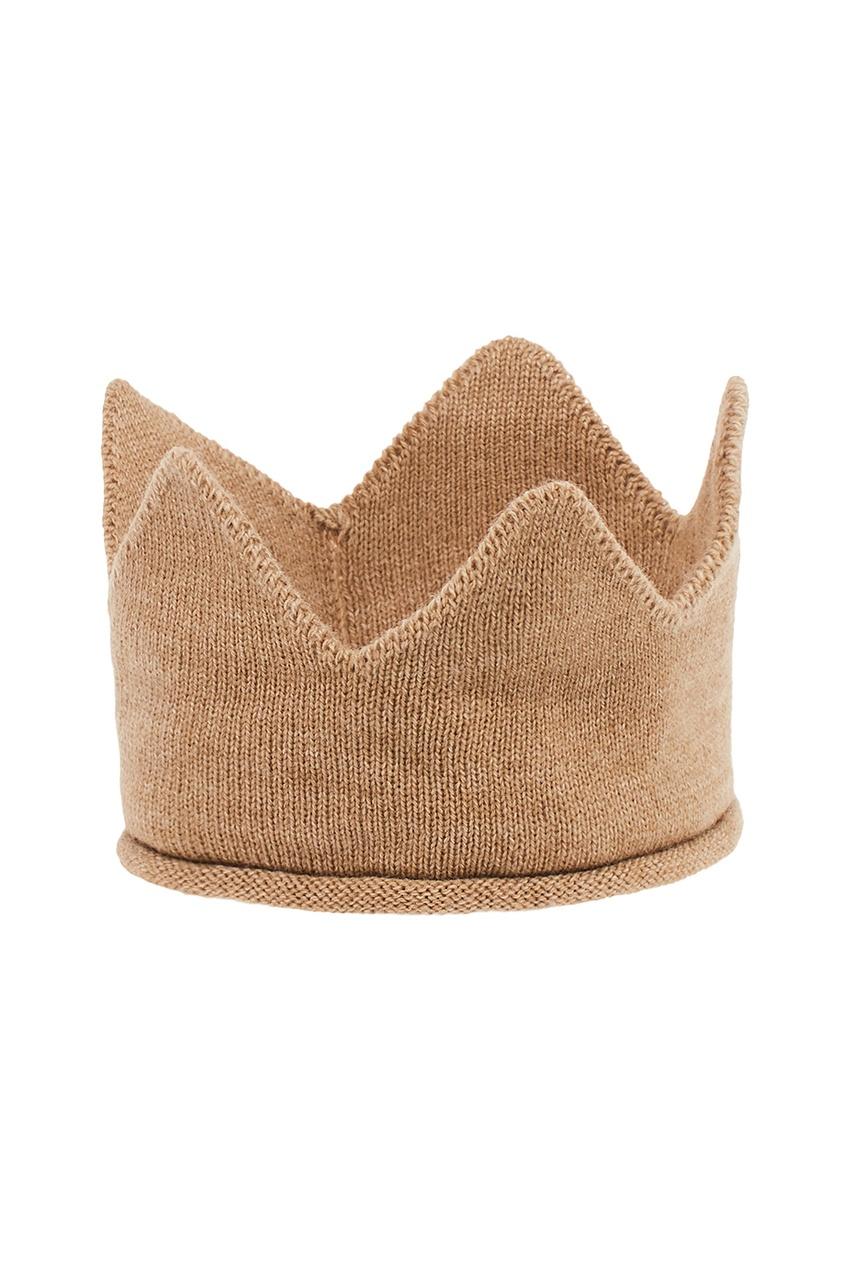 La Petite Joie Бежевая корона из шерсти petite bassinet