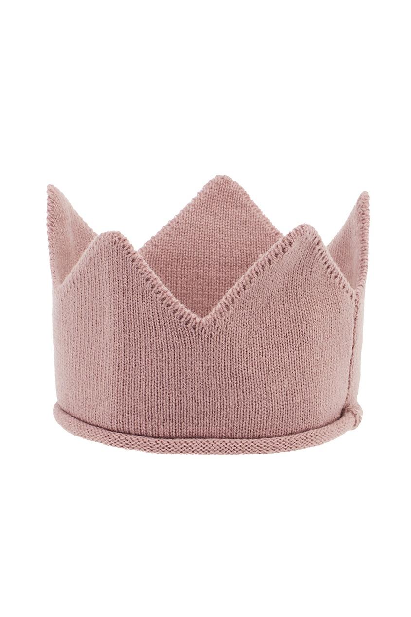 Розовая корона из шерсти