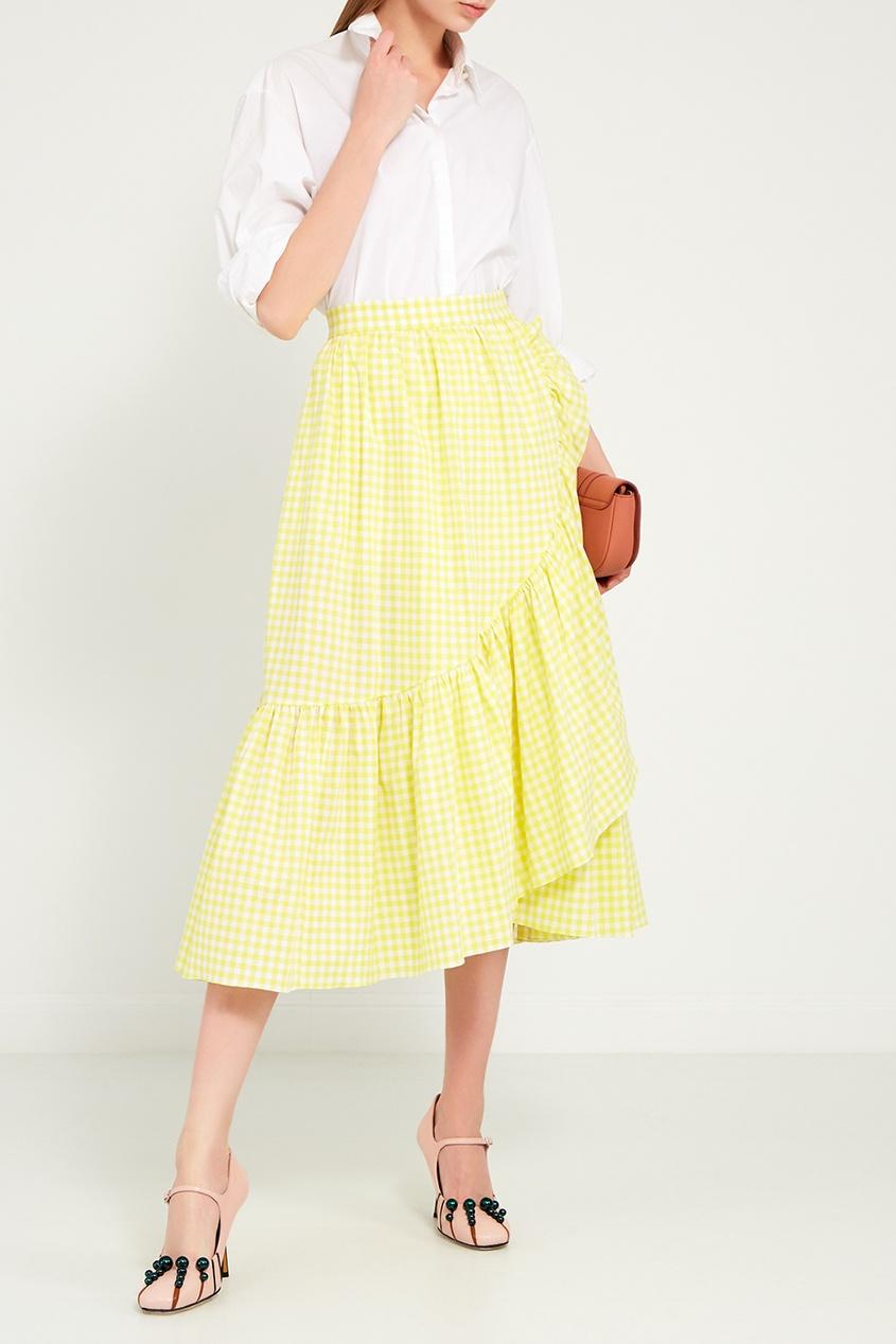 женская юбка ли-лу, желтая