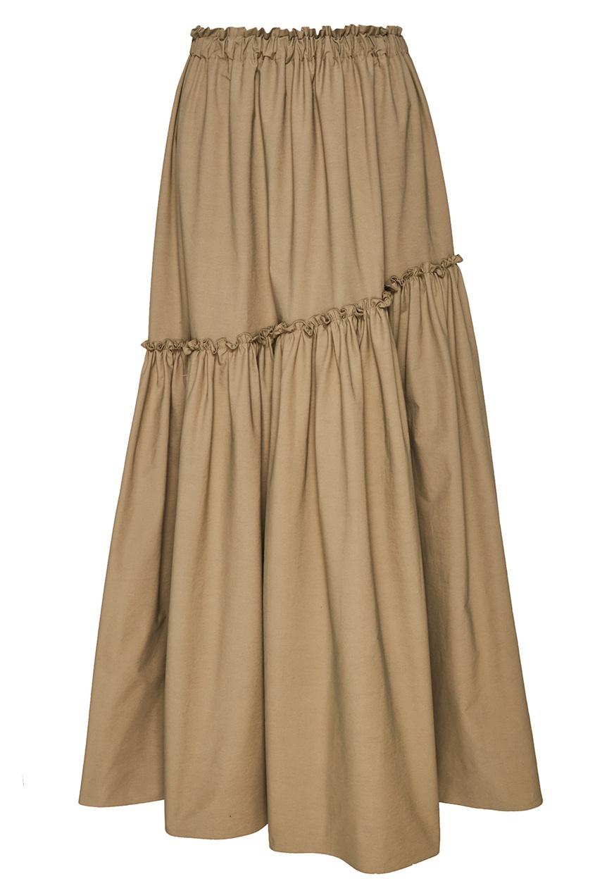 ЛИ-ЛУ Хлопковая юбка с воланом li ly простынь на резинке 2шт дет li ly ptr 60 2 6
