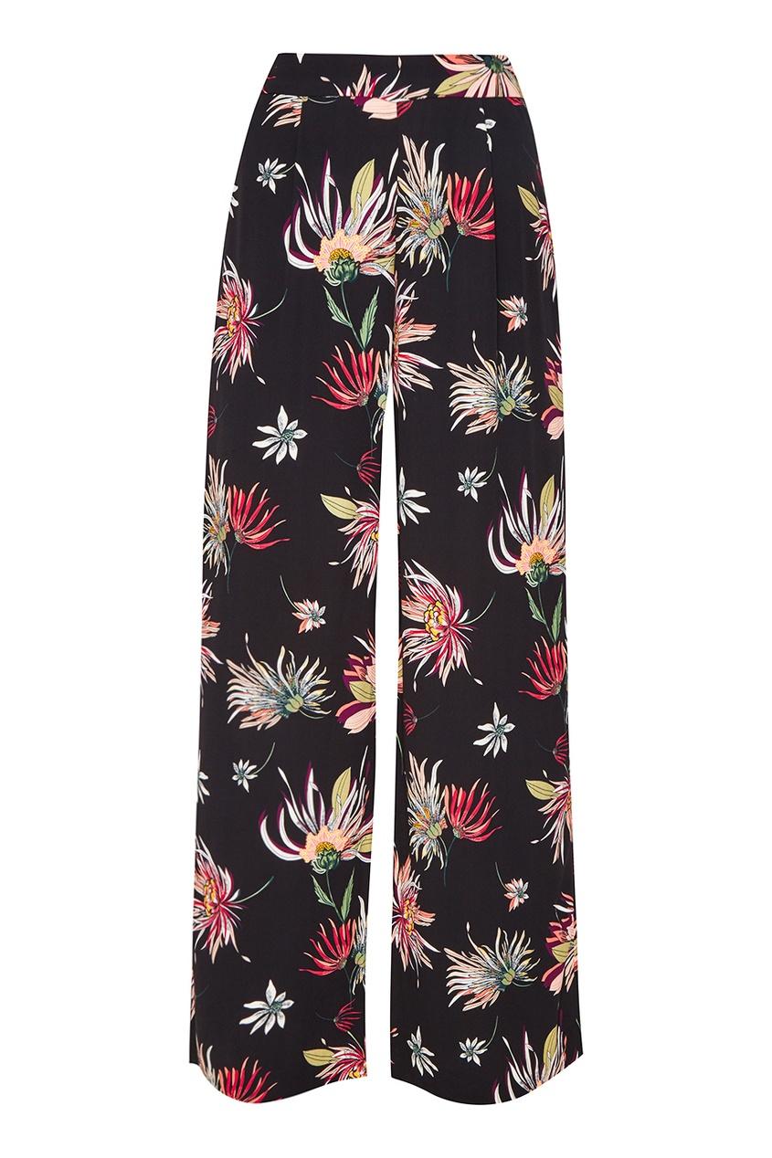 Широкие брюки с цветами
