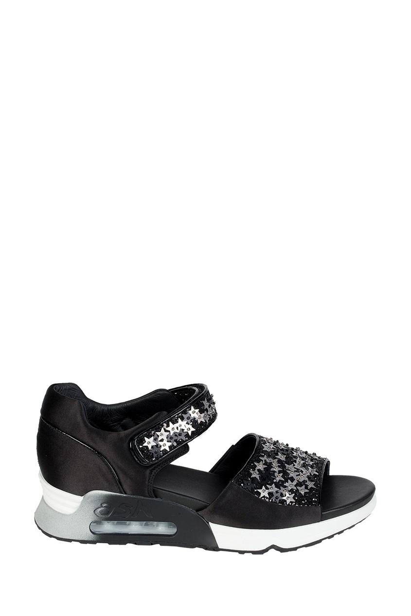 где купить ASH Черные сандалии со звездами Lotus Star по лучшей цене