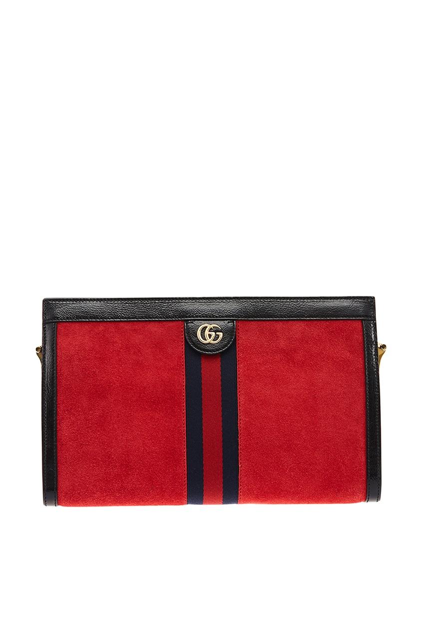 Gucci Красная замшевая сумка Ophidia gucci сумка