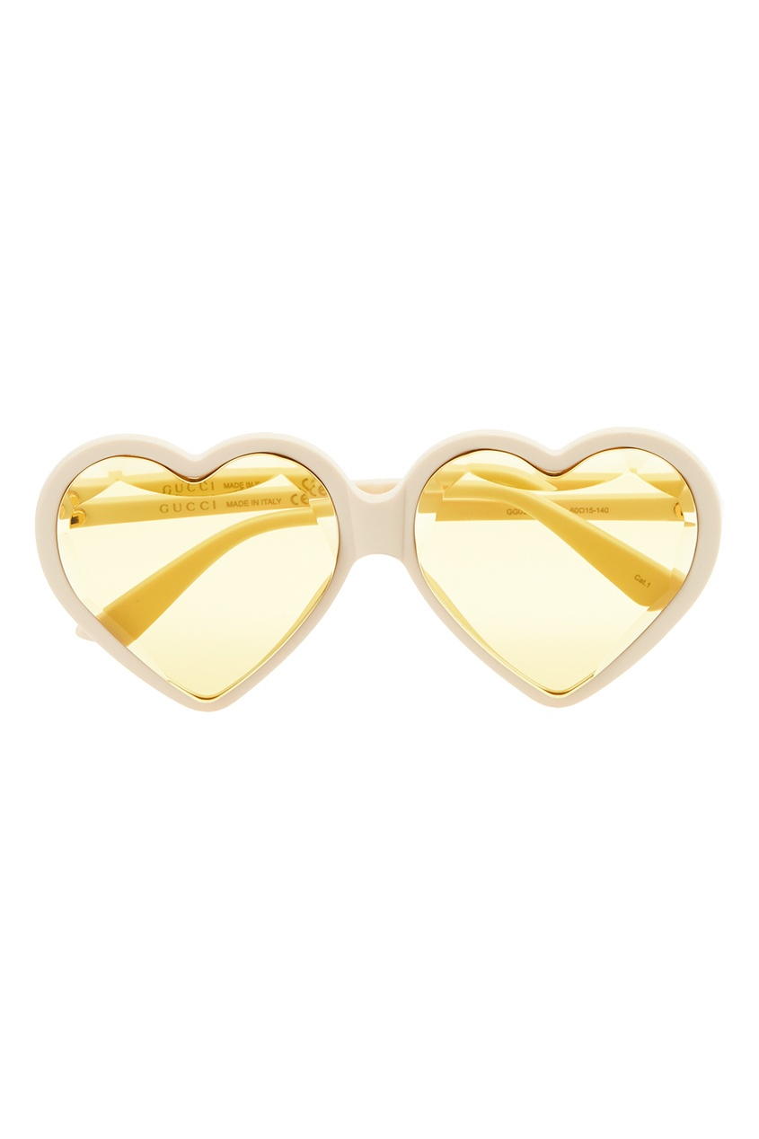 Желтые очки в форме сердец
