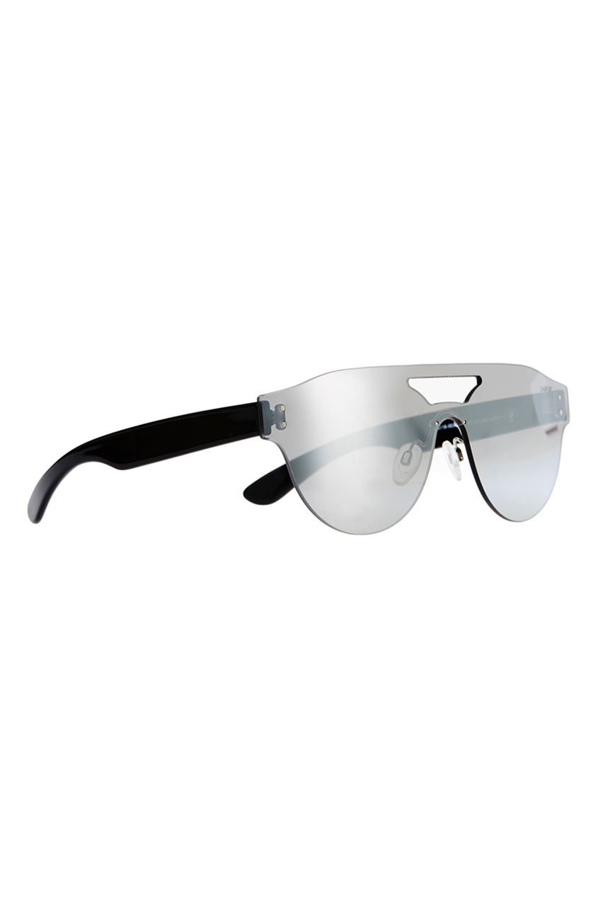 Серебристые очки с прорезью