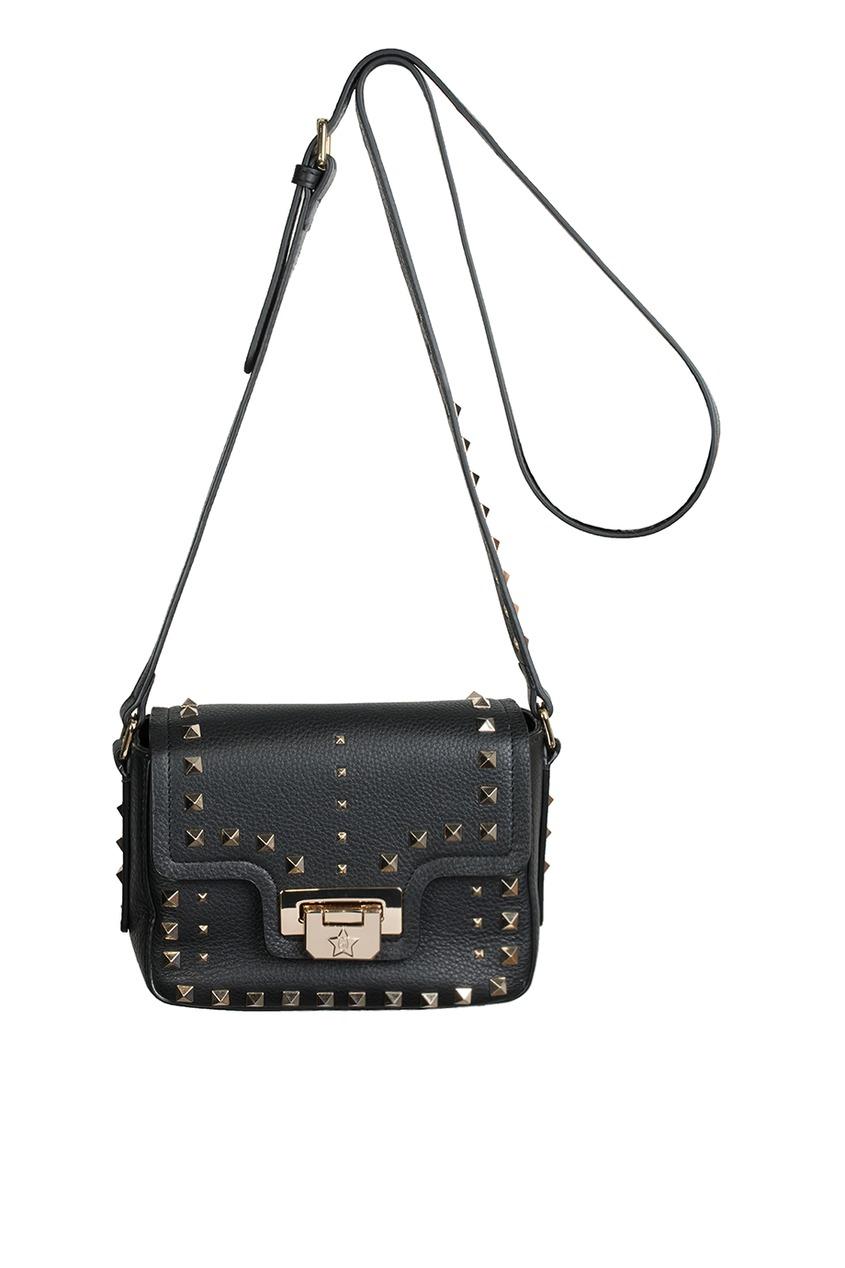 ASH Черная кожаная сумка Sage Mini yeelight ночник светодиодный заряжаемый с датчиком движения