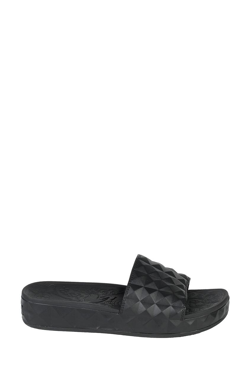 Черные текстурированные сандалии Splash