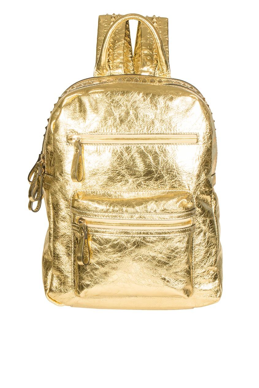 Рюкзак из золотистой кожи Sasha Backpack