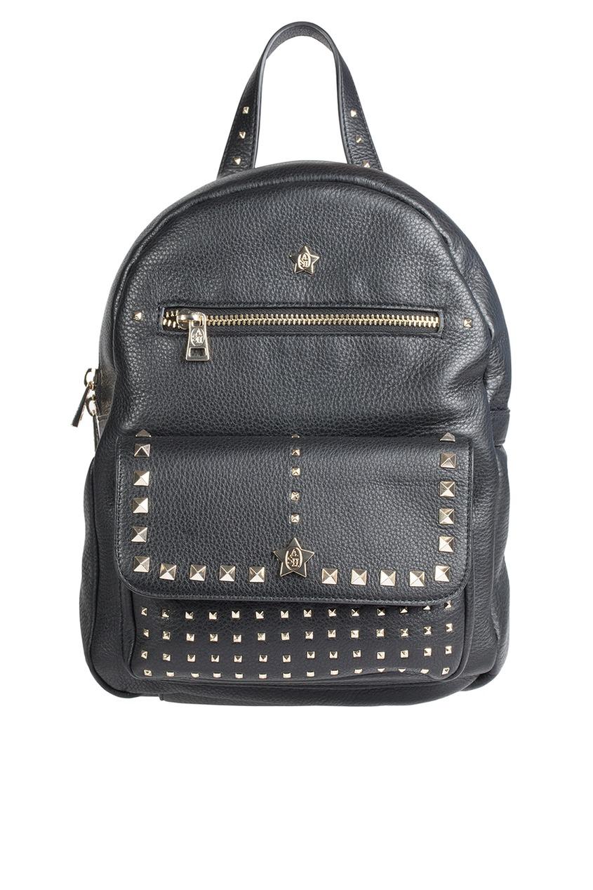 Черный рюкзак с заклепками Sarah Backpack