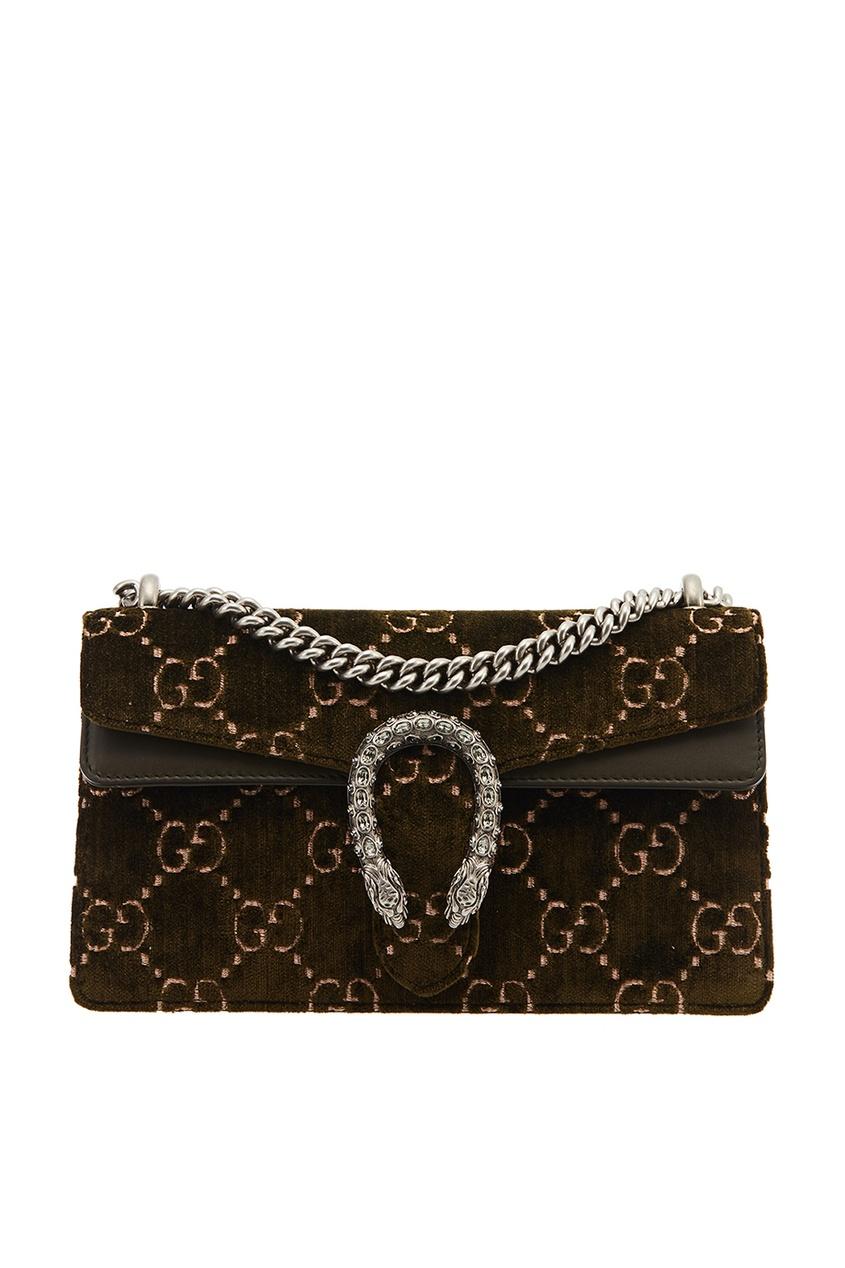 Gucci Зеленая бархатная сумка Dionysus gucci сумка