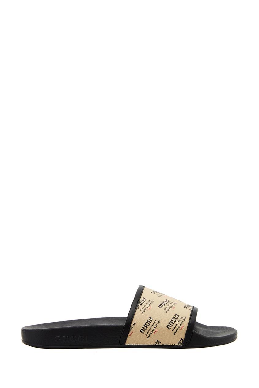 Gucci Сандалии с логотипами сандалии velvet сандалии на обычной подошве